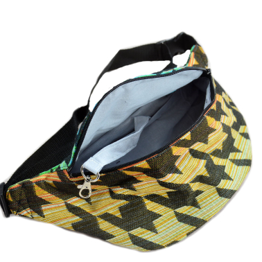 Houndstooth Ireng  Fanny Pack